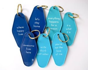 Blue Motel Keytags