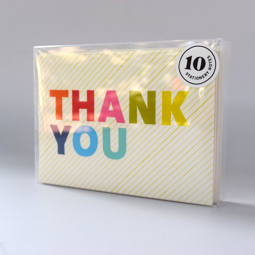 Rainbow Thank You Notecards