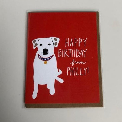 Happy Birthday From Philly Card