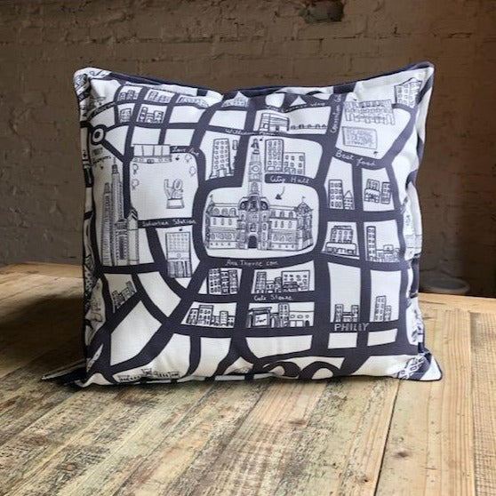 Philly Map Pillow