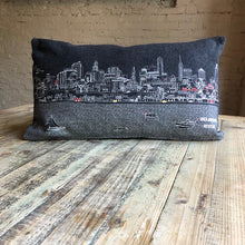 Load image into Gallery viewer, Philadelphia Skyline Embroidered Pillow