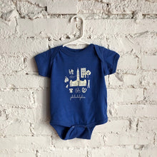 Load image into Gallery viewer, Philly Icon Blue Onesie