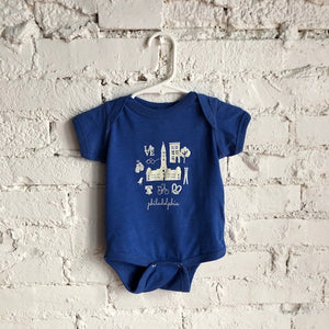 Philly Icon Blue Onesie