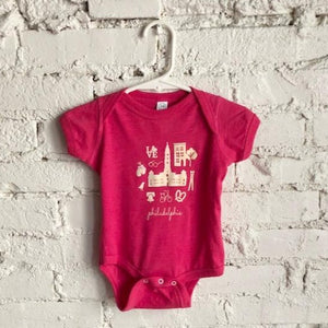 Philly Icon Pink Onesie