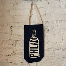 Load image into Gallery viewer, Denim Philadelphia Wine Tote