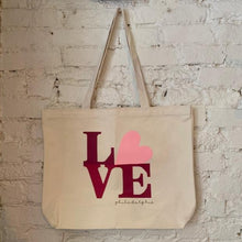Load image into Gallery viewer, Love Philadelphia Tote (Pink)