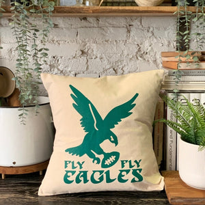 Canvas Eagles Pillow
