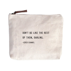 Coco Chanel Canvas Pouch