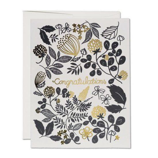 Clover Gold Congratulations Card