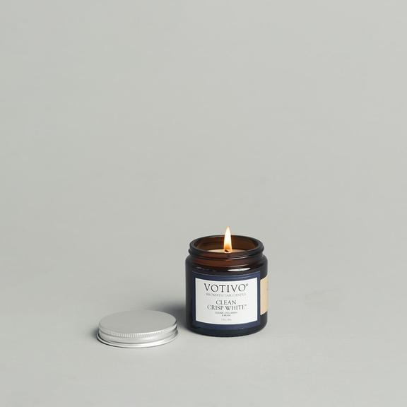 Clean Crisp White Votivo Jar Candle