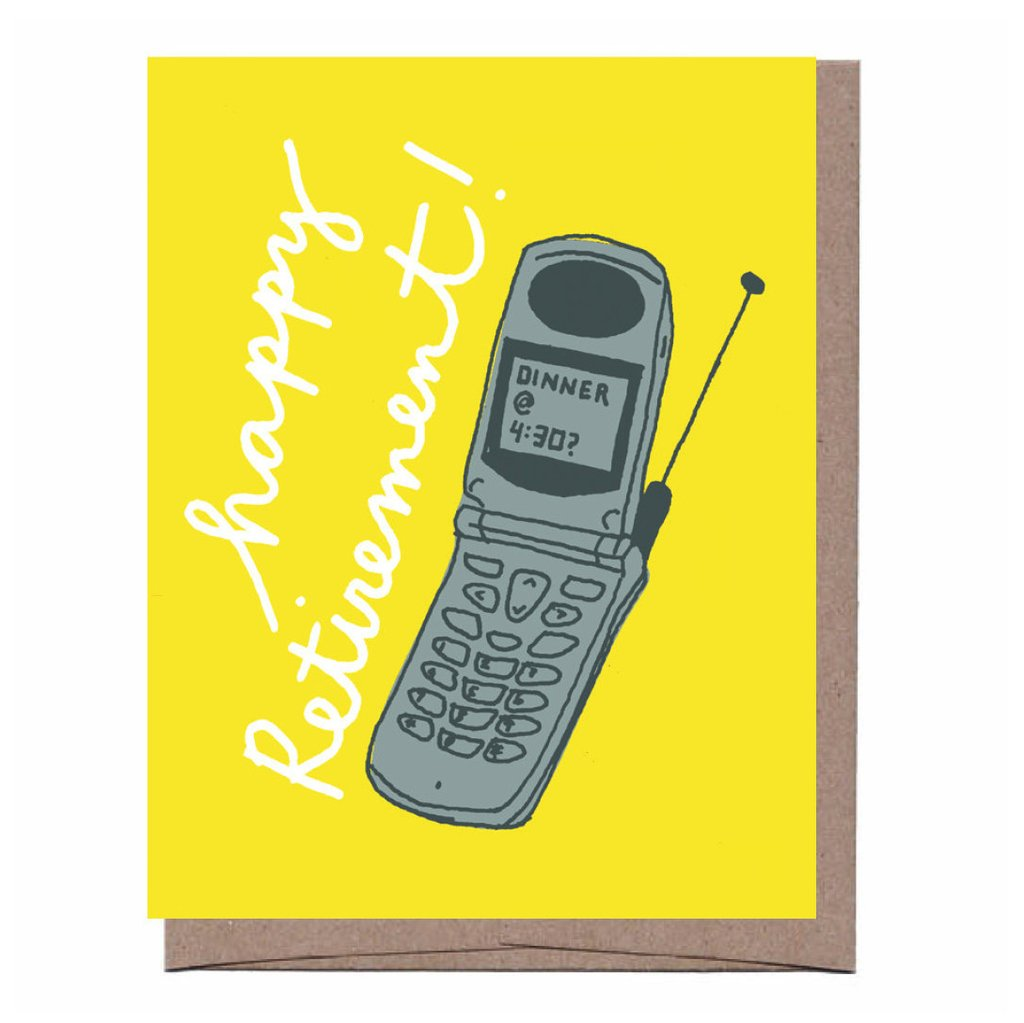 Flip Phone Retirement Card