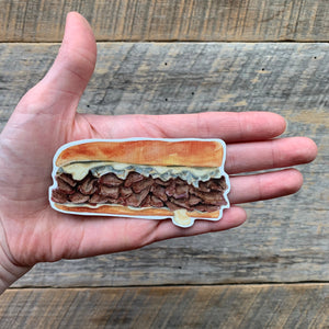 Philadelphia Cheese Steak Vinyl Sticker