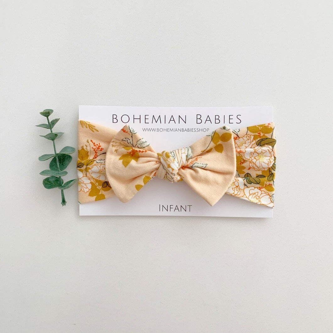 Infant Bow Headband - Secret Garden