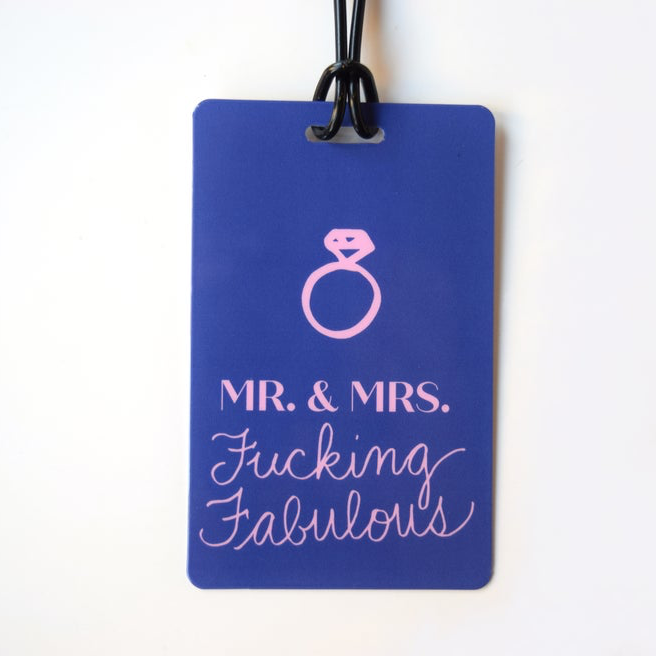 Mr. & Mrs. Fucking Fabulous Luggage Tag