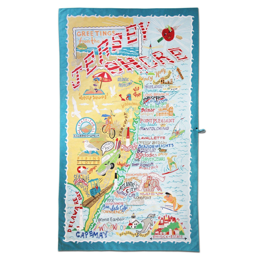Jersey Shore Beach Towel