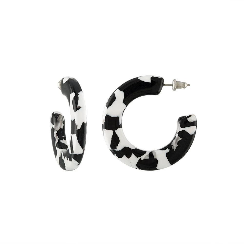 Noir Tortoise Hoop Earrings