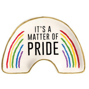 It's a Matter of Pride Rainbow Ceramic Trinket Plate
