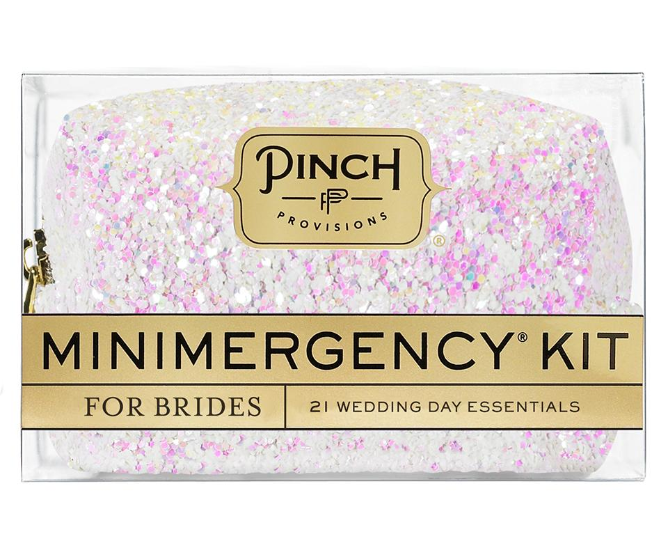 White Iridescent Minimergency Kit for Brides
