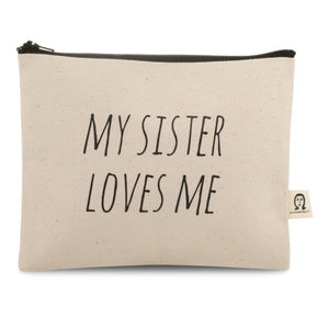 Sister Loves Me Canvas Pouch
