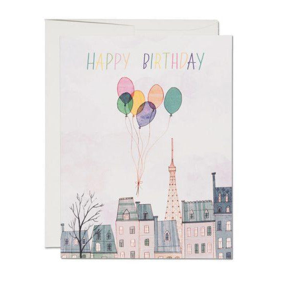 Paris Birthday Card