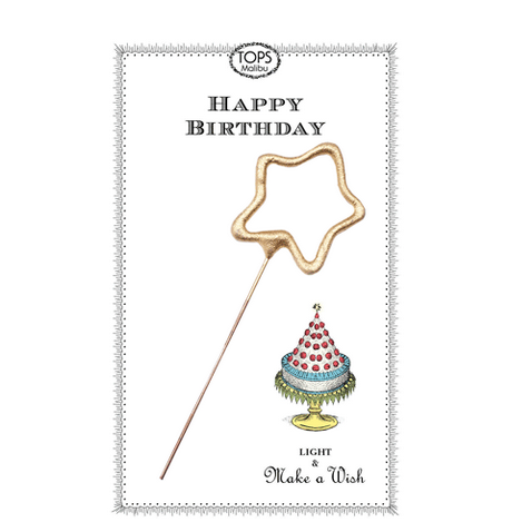 Sparkler Happy Birthday Card