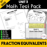 Fraction Equivalents Printable Test Pack {4th Grade Unit 3}