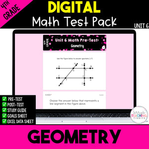 Geometry Digital Math Test Pack {4th Grade Unit 6}