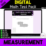 Measurement Digital Math Test Pack {4th Grade Unit 7}