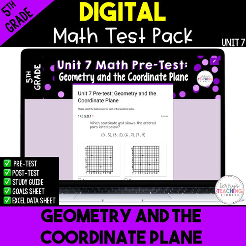 Geometry and the Coordinate Plane Test (Digital)