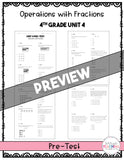 Operations with Fractions Printable Test Pack {4th Grade Unit 4}