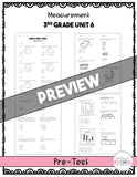 Measurement Printable Test Pack {3rd Grade Unit 6}