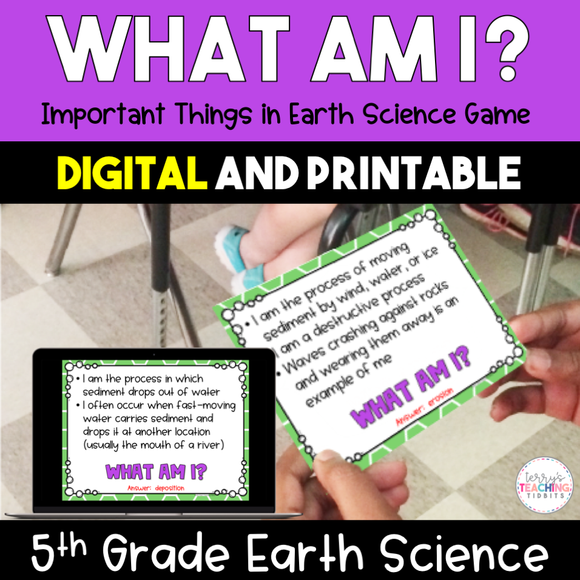 What Am I? Important Things in Earth Science Game {Digital and Printable} - 5th