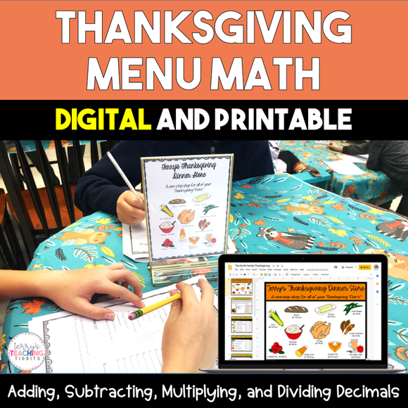 Thanksgiving Menu Math