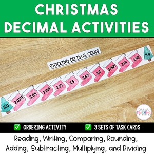 Christmas Decimal Activities {Printable}