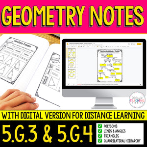 Geometry Notes Pack {5.G.3 & 5.G.4}