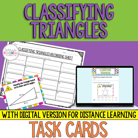 Classifying Triangles Task Cards  {5.G.3 & 5.G.4}