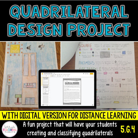 Quadrilateral Design Project - 5th Grade Geometry