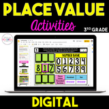 Digital Place Value Activities {3rd Grade} - Distance Learning