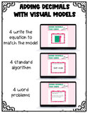 Adding and Subtracting Decimals with Visual Models Google Forms {Digital}