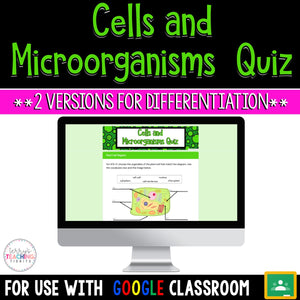 Life Science: Cells and Microorganisms Differentiated Quiz {PAPERLESS}