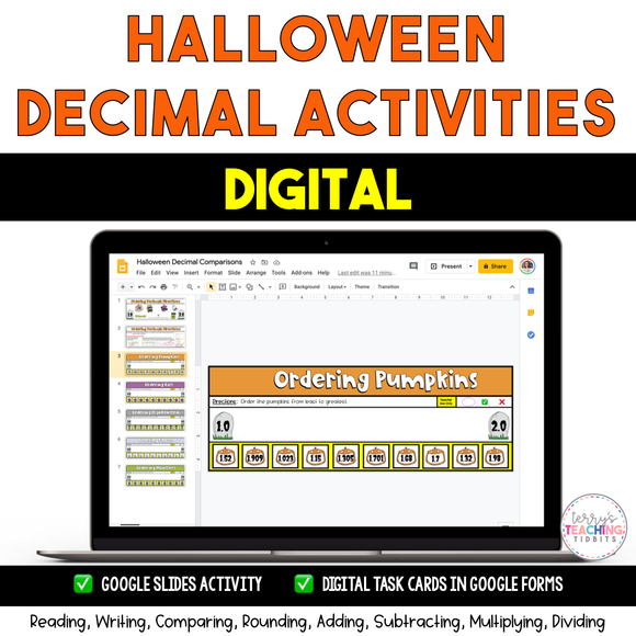 Halloween Decimal Activities {Digital}