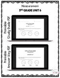 Measurement Digital Math Test Pack {3rd Grade Unit 6}