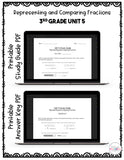 Representing and Comparing Fractions Digital Math Test Pack {3rd Grade Unit 5}