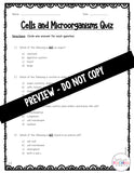 Life Science: Cells and Microorganisms Differentiated Quiz