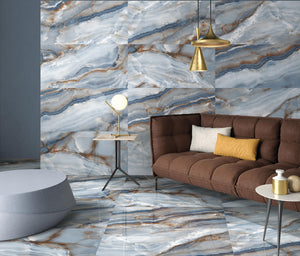 "LAPIS BLUE 24""x48""POLISHED Porcelain Tile"