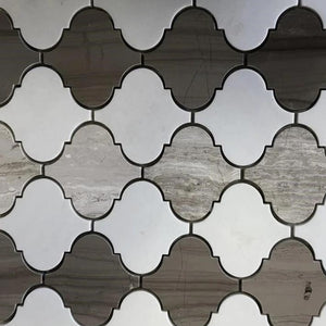 "12""Mosaic Polished TE097 3"" x 3"" Marble Tile"