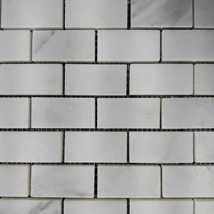 12 x 12 Polished or High Gloss White 1 x 2 Subway Marble - Tile Stone Depot