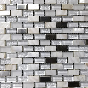 12 x 12 Square Polished or High Gloss White Glass Tile - Tile Stone Depot