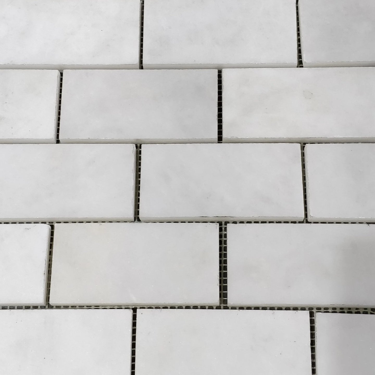 12 x 12 Square Matte White Rectangle Marble - Tile Stone Depot