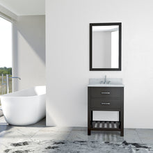 Load image into Gallery viewer, TAB Elmira Vanities 25 in. Bathroom Vanity in Espresso with Marble Vanity Top in White